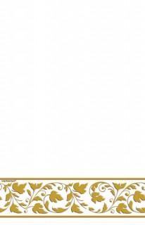 Tischdecke Deluxe Party-Zubehör weiss-gold 130x260cm