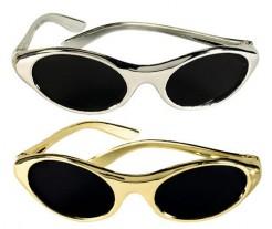 Hollywood Brillen 12 Stück Party-Set gold-silber
