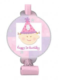 1. Geburtstag Luftrüssel Party-Deko Kindergeburtstag 8 Stück pink 13cm