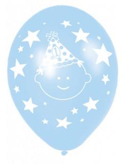 1. Geburtstag Luftballons Party-Deko 6 Stück blau-weiss 28cm