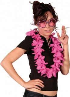 Hawaiikette Blumen-Kette Kostümzubehör rosa