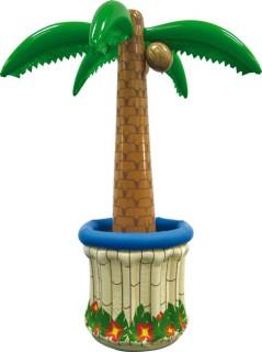 Aufblasbare Palme Getränkekühler Hawaii Party-Deko bunt 180cm