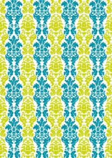 Tischdecke Barock-Muster Party-Deko grün-blau 120x180cm