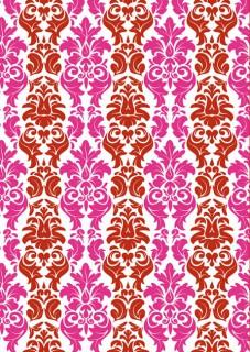 Tischdecke Barock-Muster Party-Deko rot-pink 120x180cm
