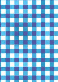 Tischdecke Party-Deko kariert blau-weiss 120x180cm