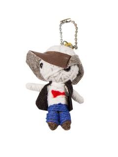 Schlüsselanhänger Voodoo-Püppchen Cowboy bunt 6cm