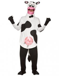 Kuh Kostüm mit Euter schwarz-weiss