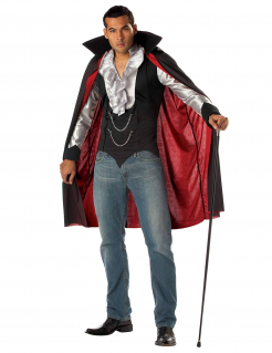 Gentleman Vampir-Herrenkostüm rot-schwarz-weiss