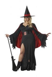 Scarlet Hexe Halloween-Kostüm übergröße schwarz-rot