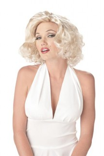Pin-Up Damen-Perücke blond