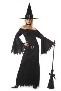 Noble Hexe Magierin Damenkostüm schwarz