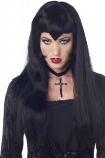 Vampiress Gothic Perücke schwarz