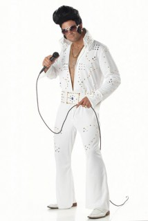 King of Rock Kostüm weiss