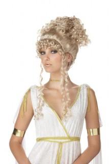Griechische Göttin Hochsteckfrisur-Perücke blond