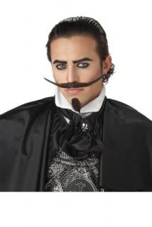 Musketier Bart Kostümzubehör schwarz