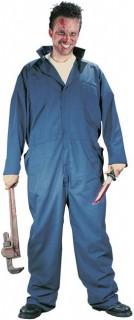 Psycho-Handwerker Halloween-Kostüm blau