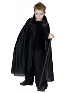Vampir-Umhang für Kinder Halloween-Accessoire schwarz