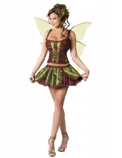 Fee Damenkostüm Elfe grün-braun