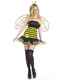 Biene Damen-Kostüm Karneval gelb-schwarz