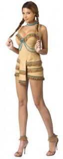 Indianerin-Kostüm beige-braun
