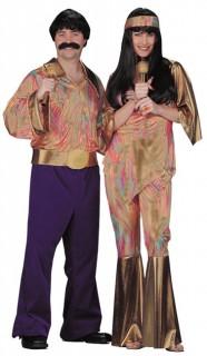 70er Jahre Cherry Hippie Damenkostüm bunt