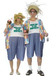 Urlauber-Kostüm Touristen-Verkleidung bunt