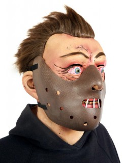 Hannibal Lecter Maske braun-hautfarben