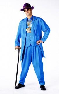 Laufhaus Lord Pimp Zuhälter Herrenkostüm blau
