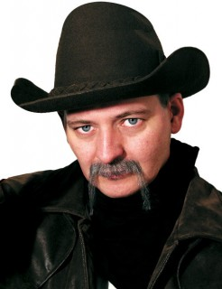 Cowboy-Bart Kostümaccessoire grau