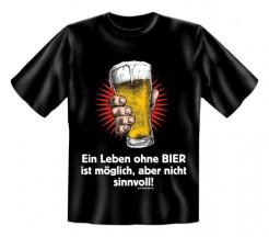 Ein Leben ohne Bier Funshirt schwarz-bunt