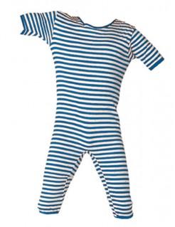 Ringel-Badeanzug blau-weiss