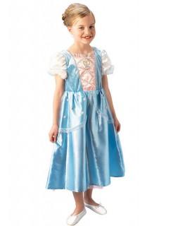 Cinderella Kinderkostüm zum Wenden hellblau-weiss