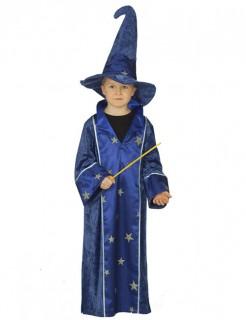 Zauberer Kinderkostüm Magier blau-gold