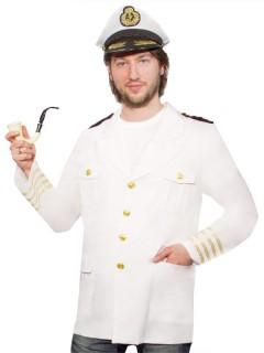 Kapitänsjacke Matrose weiss-gold