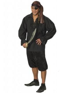Piratenhemd für Herren schwarz