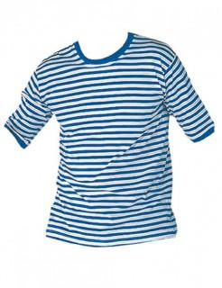 Ringelshirt Kostüm-Oberteil blau-weiss