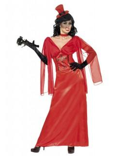 Vampir-Braut Showgirl Damenkostüm rot