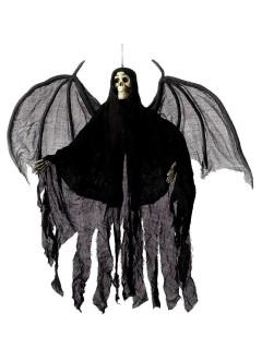 Todesengel Skelett Dämon Halloween-Hängedeko schwarz-grau-beige 105cm