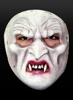 Vampir Maske Vollmaske weiss