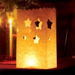Kerzen Dekotaschen-Set 5 Stück beige