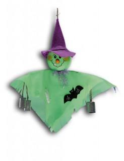 Kleiner Monster-Geist Halloween-Hängedeko grün 33cm