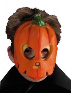 Halloween Kürbis Kinder-Maske länglich