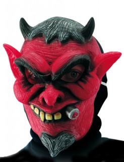 Hämischer Teufel Maske rot-schwarz