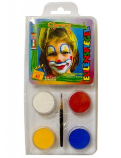 Motiv-Set Clown Karneval Schminke bunt 20g