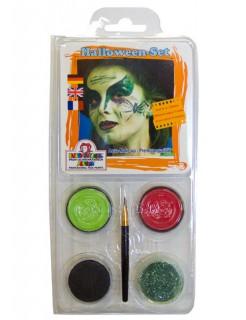 Schmink Motiv-Set Halloween 5-teilig giftgrün-rot-schwarz-pastellgrün 20g