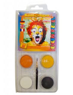 Schmink Motiv-Set Königstiger 5-teilig orange-gelb-weiss-schwarz 20g