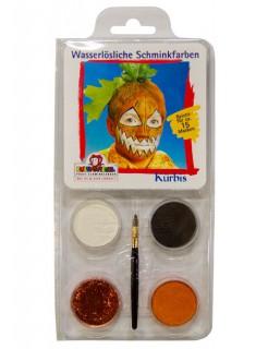 Make-Up Motiv-Set Kürbis Schminkset 5-teilig bunt
