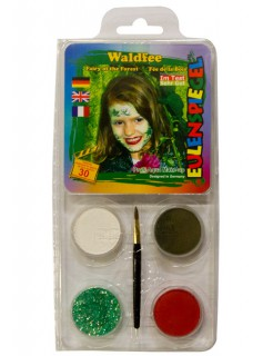 Motiv-Set Waldfee Karneval Make-Up 6-teilig bunt