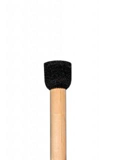 Runder Schwammpinsel gross Make-Up Zubehoer beige-schwarz