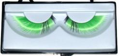 Wimpern Kostümzubehör gestreift grün-schwarz